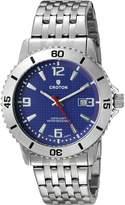 Croton Men's CA301288SSBL Analog Display Quartz Silver Watch