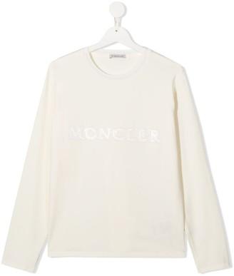 Moncler Enfant TEEN logo patch longsleeved T-shirt