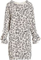 Gina Bacconi Abstract animal stretch georgette dress