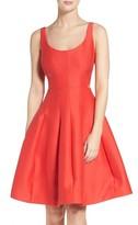 Halston Women's Cutout Fit & Flare Dress