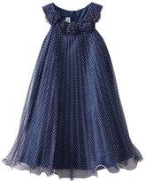 Bonnie Jean Girls 7-16 Dot Crystal Pleat Dress