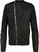 Rick Owens zipped jacket - men - Cotton/Lamb Skin/Cupro - 50