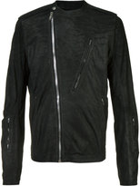 Rick Owens zipped jacket - men - Cotton/Lamb Skin/Cupro - 52