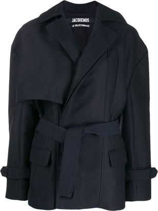 Jacquemus Asymmetric Wrap-Style Coat