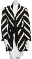 Alice + Olivia Striped Wool Cardigan