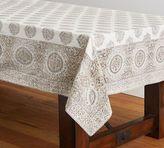Pottery Barn Block Print Tablecloth