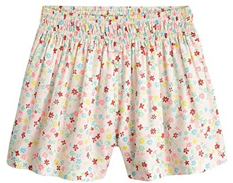 crewcuts by J.Crew Ditzy Floral Smocked Shorts (Toddler/Little Kids/Big Kids) (Ivory/Peony Multi) Girl's Casual Pants