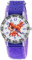 Disney Girl's 'Palace Pet' Quartz Plastic and Nylon Automatic Watch, Color:Purple (Model: W002842)