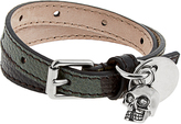 Alexander McQueen Wraparound leather bracelet