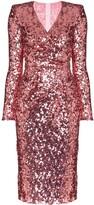 Dolce & Gabbana sequinned wrap dress