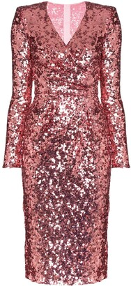 Dolce & Gabbana Sequinned Wrap Dress