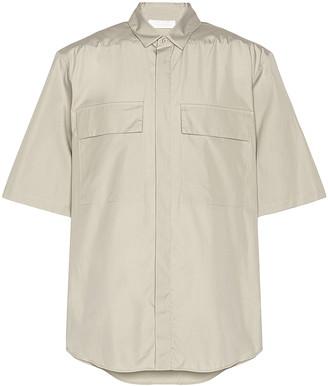 Fear of God Exclusively for Ermenegildo Zegna Oversized Short Sleeve Shirt in London Fog | FWRD