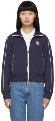 Moncler Navy Maglia Cardigan Sweater