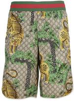 Gucci Tiger Print Shorts
