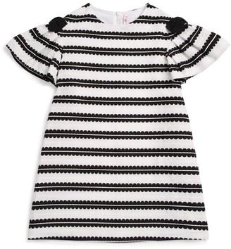 Il Gufo Stripe Bow Dress