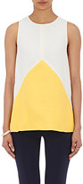"""Lisa Perry WOMEN'S \""""PIECES\"""" COLORBLOCKED TOP-CREAM SIZE 10"""