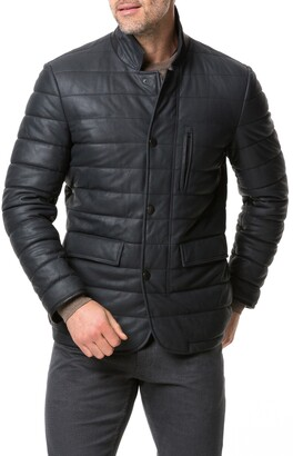 Rodd & Gunn Ashwell Channel Quilted Leather Blazer