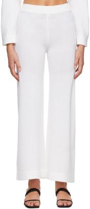 MAX MARA LEISURE Off-White Wool Renna Lounge Pants