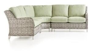 Rosecliff Heights Vermehr Patio Sectional With Cushions Cushion Color: Cast Silver