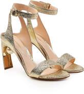 Nicholas Kirkwood Lola Metallic Leather Pearl Sandals