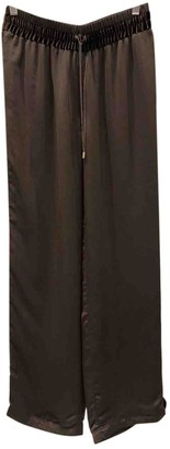 Tom Ford Brown Silk Trousers