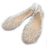 Fulinken Women's Crystal Shoes Bride Flat Ballerina Women Shoes Slip on Sandals (6, )