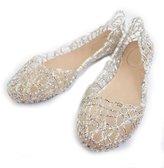 Fulinken Women's Crystal Shoes Bride Flat Ballerina Women Shoes Slip on Sandals (9, )