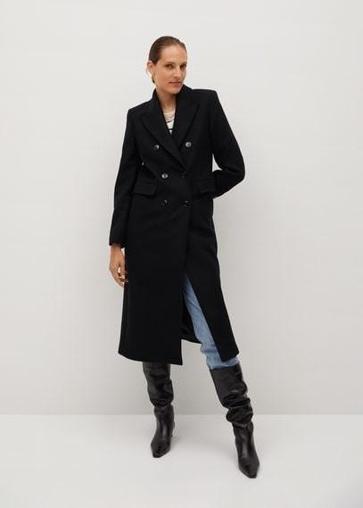 MANGO Wool double-breasted coat