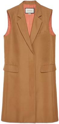 Gucci Long faille vest