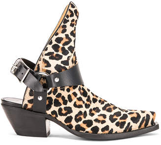 R 13 Ankle Half Cowboy Boots in Leopard | FWRD