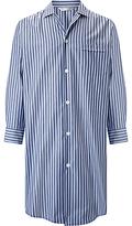Derek Rose Cotton Stripe Nightshirt, Blue/navy