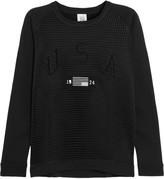 Zoe Karssen Mesh and cotton-jersey sweater