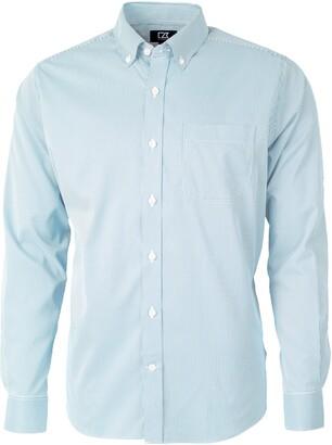 Cutter & Buck Versatech Pinstripe Classic Fit Button-Up Performance Shirt