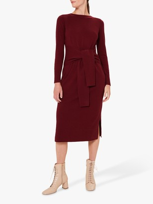 Hobbs Teagan Knit Dress, Merlot