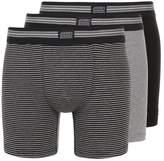 Jockey COTTON STRETCH LONG LEG TRUNK 3 PACK Shorts black/grey