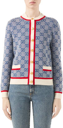 Gucci GG Wool-Knit Cardigan