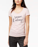 Armani Exchange Cotton Sequin-Graphic T-Shirt
