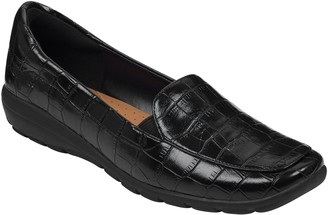 Easy Spirit Slip-On Square Toe Loafers - Abriana Croco