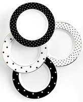 Kate Spade Set of 4 Larabee Road Polka Dot Tidbit Plates