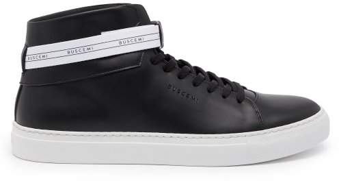 Buscemi 100mm Sport Leather High Top Trainers - Mens - Black