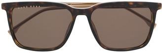 HUGO BOSS Tortoiseshell Square-Frame Sunglasses