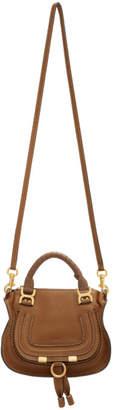 Chloé Tan Mini Marcie Double Shoulder Bag