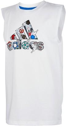 adidas Boys 8-20 Graphic Tank