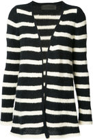 The Elder Statesman cashmere striped cardigan - women - Cashmere - L