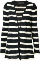The Elder Statesman cashmere striped cardigan - women - Cashmere - M