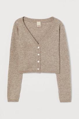 H&M Rib-knit Wool-blend Cardigan