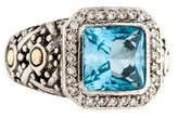 John Hardy Blue Topaz & Diamond Batu Sari Ring