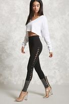 Forever 21 FOREVER 21+ Lace-Up Skinny Pants