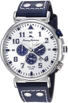 Tommy Bahama Men's Quartz Stainless Steel and Leather Casual Watch, Color:Blue (Model: TB00001-06)