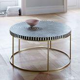 Striped Bone Inlay Coffee Table